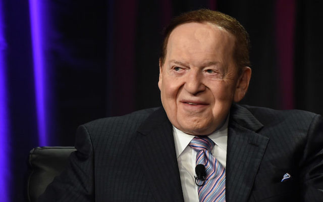 Sands Corp. Chairman Sheldon Adelson speaking at the Global Gaming Expo at The Venetian Las Vegas, Oct. 1, 2014. (Ethan Miller/Getty Images)