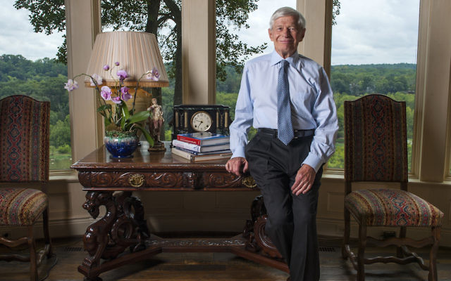 Fred Malek poses in his home in McLean, Va., Sept. 8, 2014. (Katherine Frey/The Washington Post)