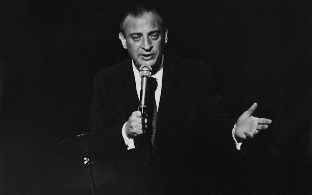 Rodney Dangerfield performing for the inmates at Rikers Island Jail, New York, circa 1969. (Susan Schiff Faludi/Three Lions/Hulton Archive/Getty Images)
