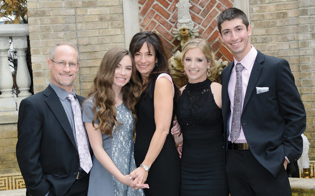 The Ungerleider family today. From left, Jeff, Sydney, Shari, Leigh, and Justin.