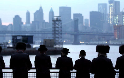 """A scene from """"One of Us,"""" a documentary on ultra-Orthodox Jews who choose to leave their communities."""