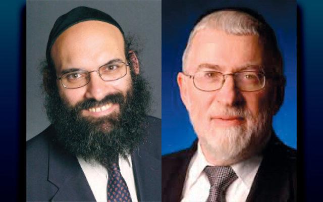 Rav Mayer Twersky, left, and Rav Hershel Schachter