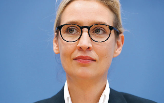 Alice Weidel, a co-head of the far-right Alternative for Germany party, is in Berlin after the election. (Sean Gallup/Getty Images)