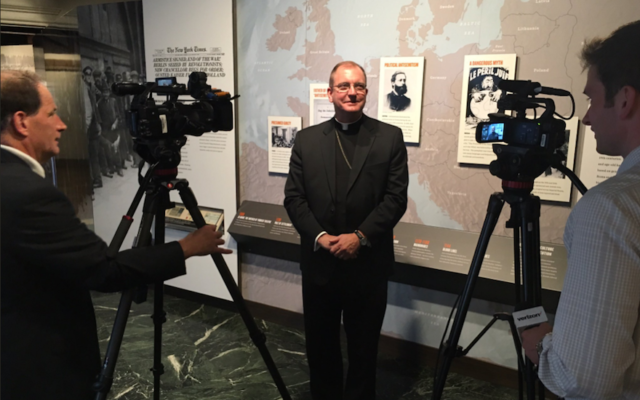 Bishop John Barres at the Holocaust Memorial and Tolerance Center of Nassau County in Glen Cove, N.Y., Sept. 26, 2017. (Diocese of RVC)