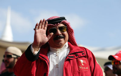 The king of Bahrain, Hamad bin Isa Al Khalifa, in his country, Dec. 5, 2015. (Nigel Roddis/Getty Images for Ironman)