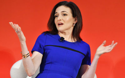 Sheryl Sandberg speaking at Advertising Week in New York, Sept. 27, 2016. Slaven Vlasic/Getty Images for Advertising Week New York)