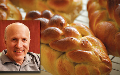 Charles Rubin, inset, baked many loaves for Rosh Hashanah. (Photos by Arvit Rubin)