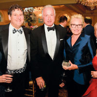 Susan Gralla and her husband, Dennis Gralla, a member of the board of the Jewish Home at Rockleigh, with Judy and Ary Freilich, Jewish Home Assisted Living and Jewish Home Family board members, and Carol Silver Elliott.