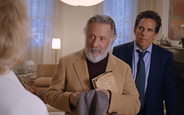 "Dustin Hoffman and Ben Stiller in the ""Meyerowitz Stories."""