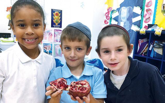 Sinai students celebrated Rosh Hashanah.
