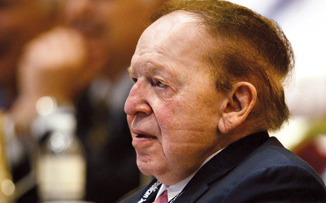 Sheldon Adelson at the Republican Jewish Coalition spring leadership meeting at the Venetian in Las Vegas on March 29, 2014. (Ethan Miller/Getty Images)