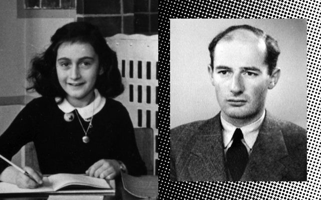 Anne Frank and Raoul Wallenberg (Wikimedia Commons)