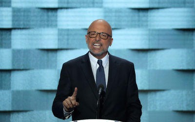 Rep. Ted Deutch speaking at the Democratic National Convention in Philadelphia, July 28, 2016. (Alex Wong/Getty Images)