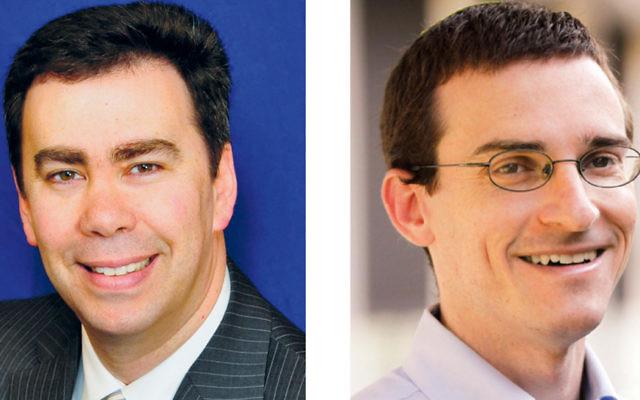 Rabbi Steven Sirbu, left, and Rabbi Dan Judson