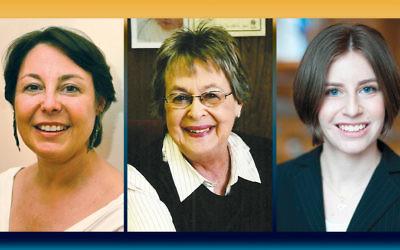 From left, Rabbi Shelley Kniaz, Miriam Gray, and Rabbi Loren Monosov