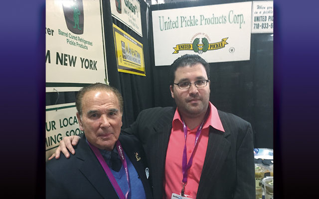 Steven and Andrew Leibowitz, the father-and-son team behind Guss' Pickles, attend Kosherfest at the Meadowlands Exposition Center.