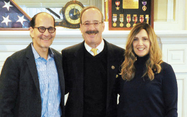 Phil Goldschmiedt and his wife, Rochelle, flank Congressman Eliot Engel. (Courtesy Norpac)