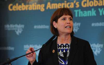 Betty McCollum at the Russell Senate Office Building in Washington, D.C., June 25, 2014. (Larry French)