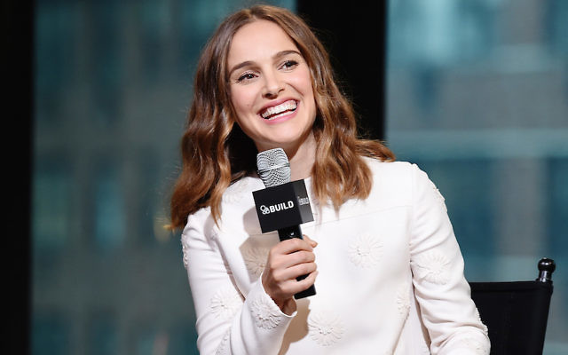 """Natalie Portman discussing her film """"A Tale Of Love And Darkness"""" at AOL headquarters in New York City, Aug. 18, 2016. (Nicholas Hunt/Getty Images)"""