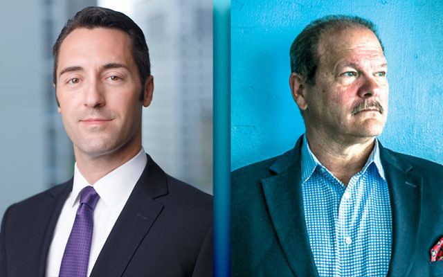 Michael Masters, left,  rose through police ranks in Chicago and elsewhere in Cook County, Ill. (Andrew Collings/Jewish Federations of North America) Paul Goldenberg ran the Secure Community Network for more than a decade. (Courtesy of Paul Goldenberg)
