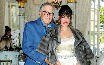 Robin Bernstein and her husband, Richard, at Donald Trump's Mar-a-Lago in Palm Beach, Florida, in February. (Davidoff Studios/Getty Images)