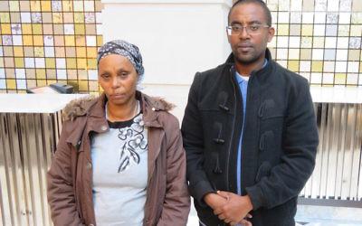 Agamesh Mengistu, with her son Ilan, in Washington, D.C., Nov. 17, 2017. (Ron Kampeas)
