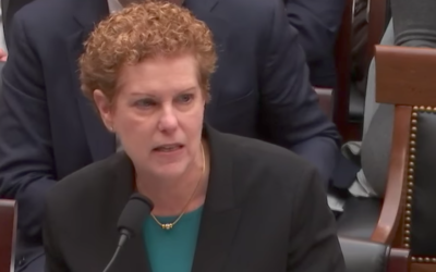 Pamela Nadell, a Jewish studies and history professor at American University, testifying before the House Judiciary Committee, Nov. 7, 2017. (Screenshot from YouTube)