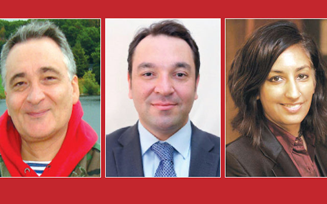 Dr. Michael Chikinda, Mazen Adi, and Dr. Jasbir Puar