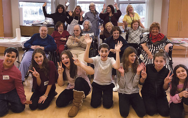 Residents of the Jewish Home at Rockleigh and students at Temple Emanuel of the Pascack Valley joined in Art Through the Ages.
