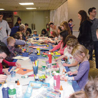 "The Jewish Center of Teaneck sponsored a ""Chanukah Chagigah"" that inlcuded a ""Hunt for the Missing Oil"" and crafts. (Michael Laves)"