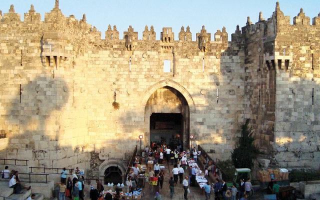 The Damascus Gate leads to Jerusalem's Old City. (UNESCO via Wikipedia)