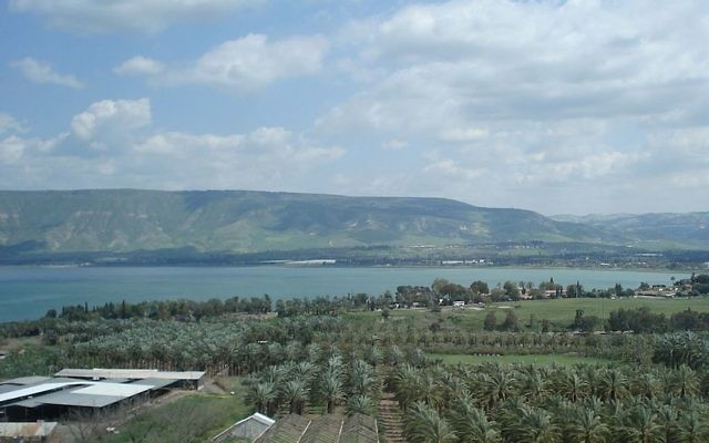The Sea of Galilee, seen here, provides a quarter of Israel's potable water supply. (Wikimedia Commons)