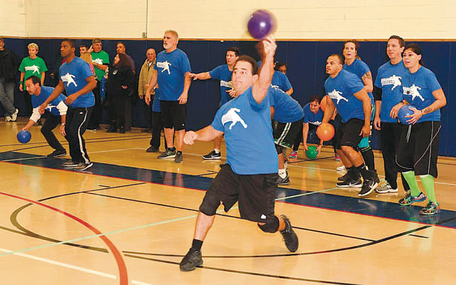 Dodgeball action heats up at the tournament organized by the Jewish Community Campus.
