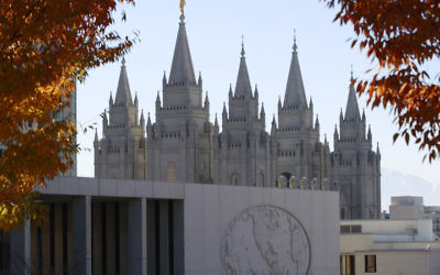 The historic Salt Lake Temple and the world headquarters of the Mormon church in Salt Lake City, Utah, Nov. 14, 2015. (George Frey/Getty Images)