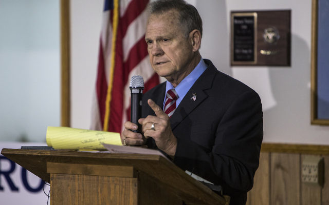 Roy Moore at a campaign rally in Henagar, Ala., Nov. 27, 2017. (Joe Buglewicz/Getty Images)
