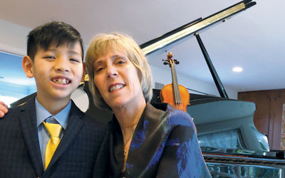 Tracy Blumberg and her son William