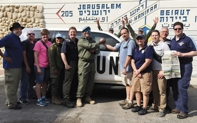 This first responder delegation from the Jewish Federation of Northern New Jersey went to Israel in 2016. The delegation included local police officers, ER doctors, and a firefighter.