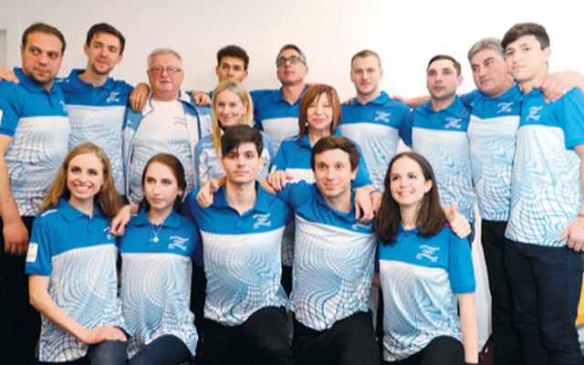 The Israel Olympic ice skating team with coaches. (Photo provided)