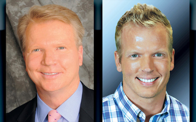 Phil Simms, left, and Chris Simms (Photos courtesy JCCOTP)