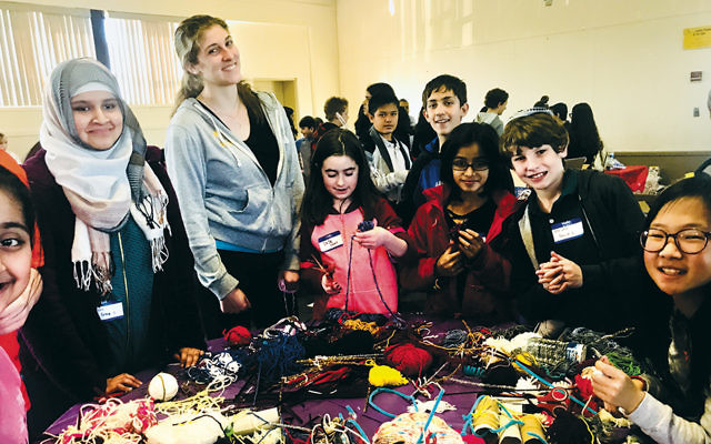 Middle school students followed volunteer Myah Wolfer's lead and made hundreds of cat toys for the Bergen County Animal Shelter.