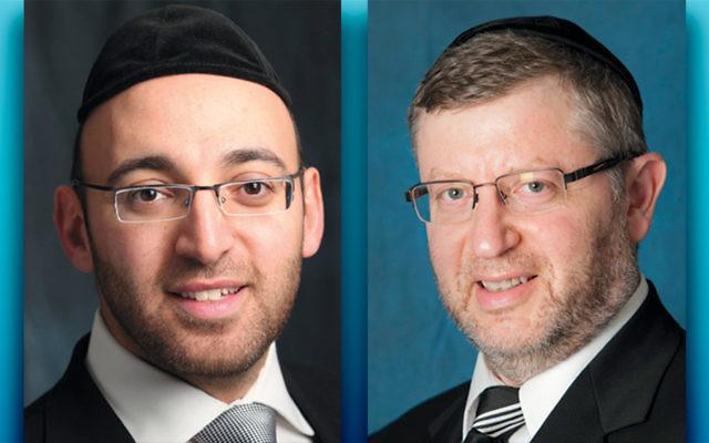 Rabbi Lawrence Hajioff, left, and Rabbi Allen Schwartz