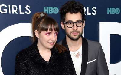 "Lena Dunham and Jack Antonoff attending the New York premiere of the sixth season of ""Girls"" at Lincoln Center, Feb. 2, 2017. (Jamie McCarthy/Getty Images)"