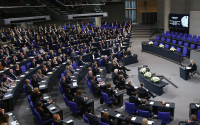 A view of the Bundestag, or German parliament, in Berlin, Jan. 18, 2018. (Sean Gallup/Getty Images)