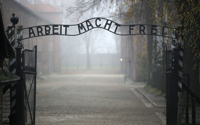 The main gate of Auschwitz, the extermination camp in Oswiecim, Poland. (Christopher Furlong/Getty Images)