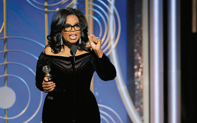 Oprah Winfrey speaks at the Golden Globes ceremony in Beverly Hills, California, on January 7. The speech led to speculation that the former talk show host could run for president in 2020. (Paul Drinkwater/NBCUniversal via Getty Images)