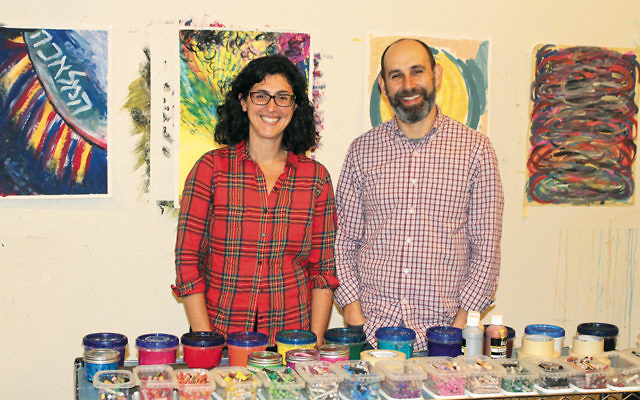 Rabbi Adina Allen and her husband, Jeff Kasowitz, founded the Jewish Studio Project in 2015 as a way for Jews to gain access to their religion through art. (Photos by Ben Sales)