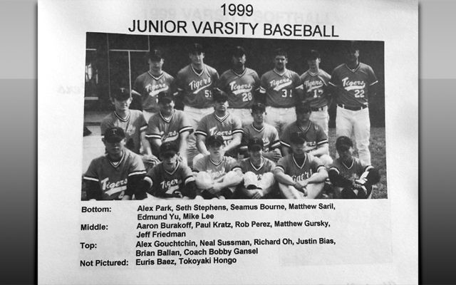 Dr. Seth Stephens-Davidowitz and the 1999 Tenafly High School JV baseball team. He's second from left in the bottom row.
