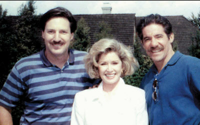Andy Friendly, his wife, Pat, and Geraldo Rivera in Los Angeles in 1994. (Courtesy Andy Friendly)