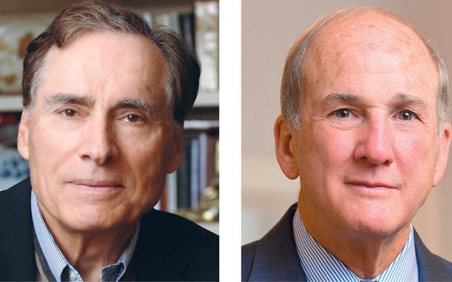 Dr. Leonard Cole, left, and Dr. Robert Barchi