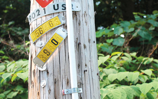 The Bergen Rockland Eruv Association agreed to paint over or replace tubing on utility poles as part of its agreement with Mahwah.